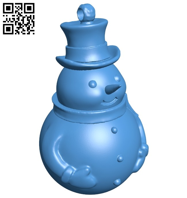 Snowman keychain B007503 file stl free download 3D Model for CNC and 3d printer