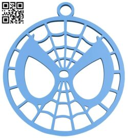 Spiderman keychain B007485 file stl free download 3D Model for CNC and 3d printer