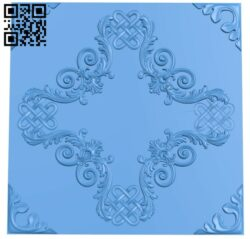 Square decor pattern A004875 download free stl files 3d model for CNC wood carving