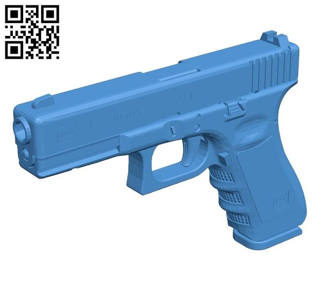 Standard glock gun B007487 file stl free download 3D Model for CNC and 3d printer
