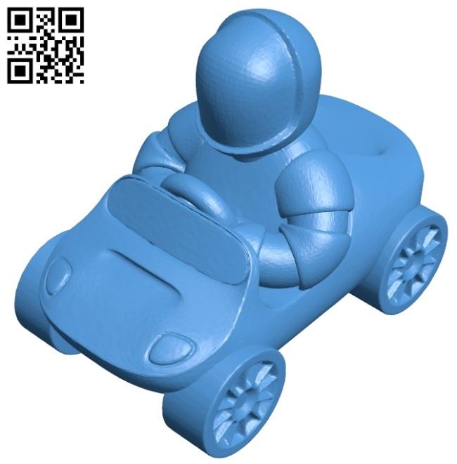 Star man - toy car B007430 file stl free download 3D Model for CNC and 3d printer