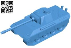 Tank B007258 file stl free download 3D Model for CNC and 3d printer
