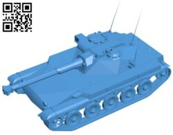 Tank ELC AMX B007464 file stl free download 3D Model for CNC and 3d printer