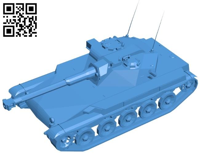 Tank ELC AMX B007464 file stl free download 3D Model for CNC and 3d printer