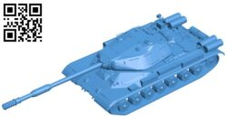 Tank IS-4 B007522 file stl free download 3D Model for CNC and 3d printer