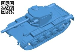 Tank Vickers CR B007275 file stl free download 3D Model for CNC and 3d printer