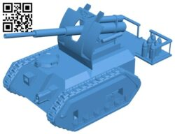 Tank basilisk artillery B007562 file stl free download 3D Model for CNC and 3d printer