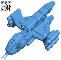 Tenka missile frigate ship B007449 file stl free download 3D Model for CNC and 3d printer