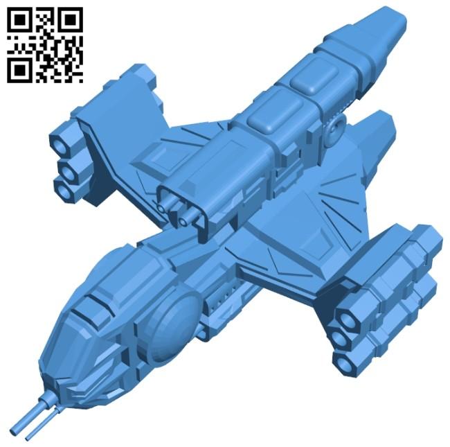 Tenka missile frigate ship B007449 file stl free download 3D Model for CNC and 3d printer