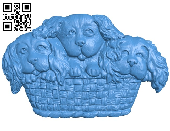 The cradle of three dogs A004939 download free stl files 3d model for CNC wood carving
