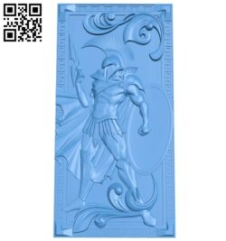 The door pattern of the warrior A004841 download free stl files 3d model for CNC wood carving