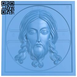 The face of jesus A004937 download free stl files 3d model for CNC wood carving