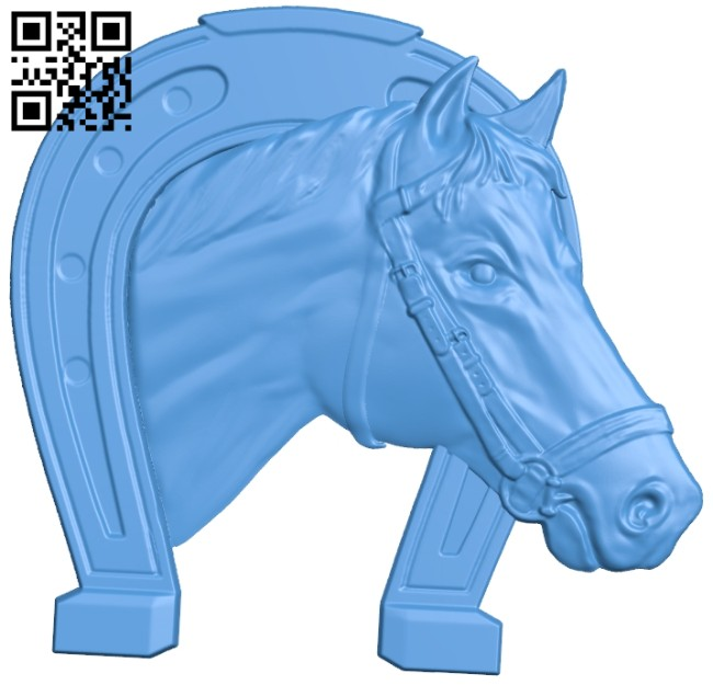 The horseshoe - horse A004938 download free stl files 3d model for CNC wood carving