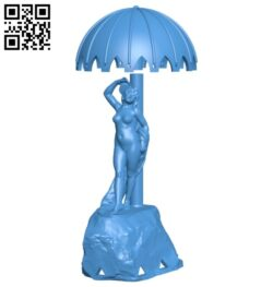 The woman stands under the umbrella B007548 file stl free download 3D Model for CNC and 3d printer