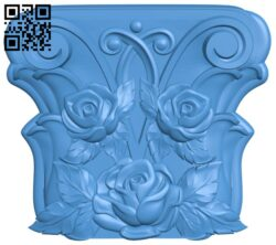 Top of the column A004865 download free stl files 3d model for CNC wood carving