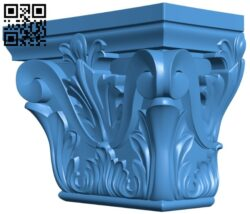 Top of the column A004867 download free stl files 3d model for CNC wood carving