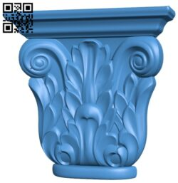 Top of the column A004868 download free stl files 3d model for CNC wood carving