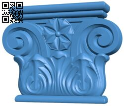 Top of the column A004870 download free stl files 3d model for CNC wood carving