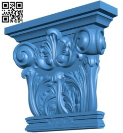 Top of the column A004871 download free stl files 3d model for CNC wood carving