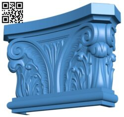 Top of the column A004873 download free stl files 3d model for CNC wood carving