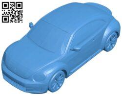 Volkswagen beetle car 2012 B007523 file stl free download 3D Model for CNC and 3d printer