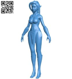 Warrior woman B007332 file stl free download 3D Model for CNC and 3d printer