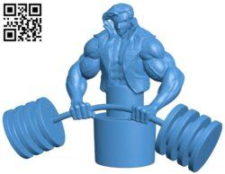 Weight lift sculpt – man B007306 file stl free download 3D Model for CNC and 3d printer