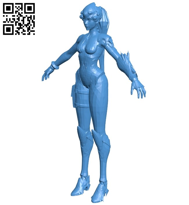 Widowmaker barehanded - women B007484 file stl free download 3D Model for CNC and 3d printer