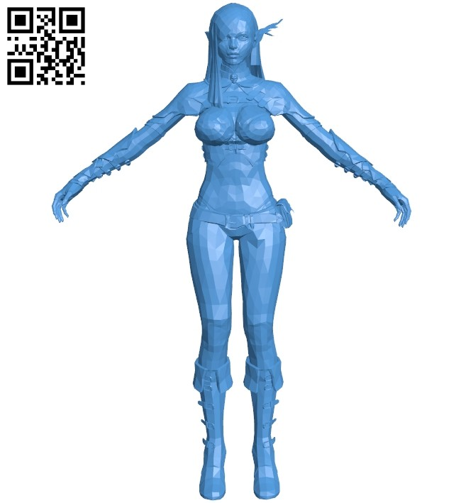 Woman elf B007579 file stl free download 3D Model for CNC and 3d printer