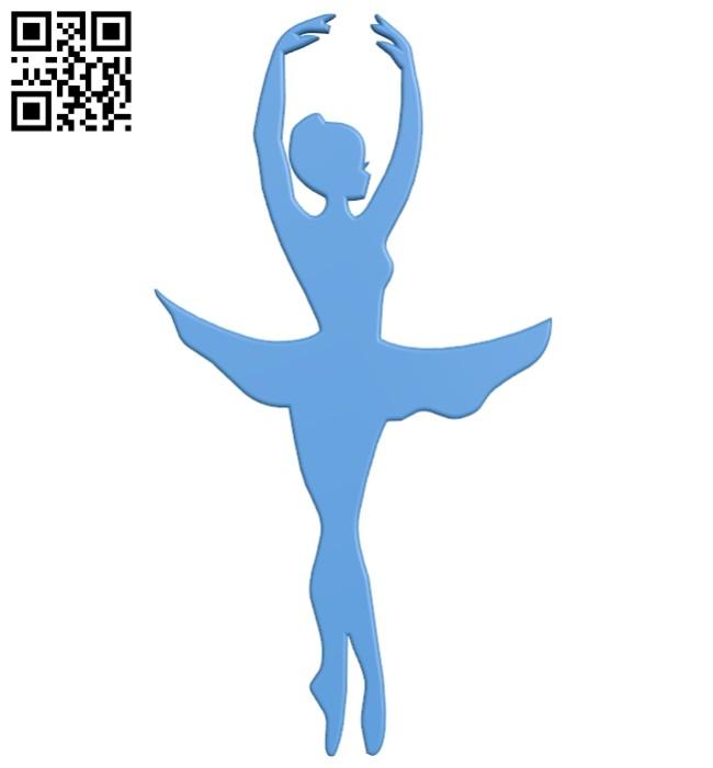Women ballerina B007559 file stl free download 3D Model for CNC and 3d printer