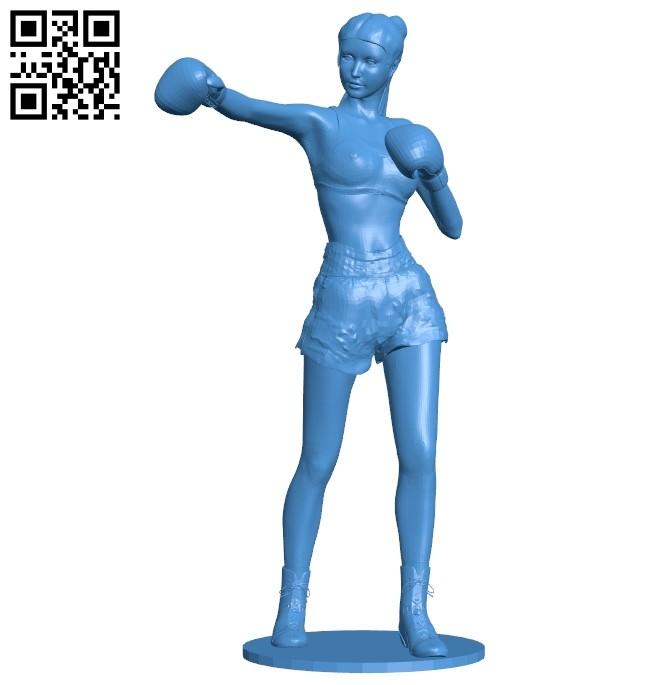 Women boxer B007369 file stl free download 3D Model for CNC and 3d printer