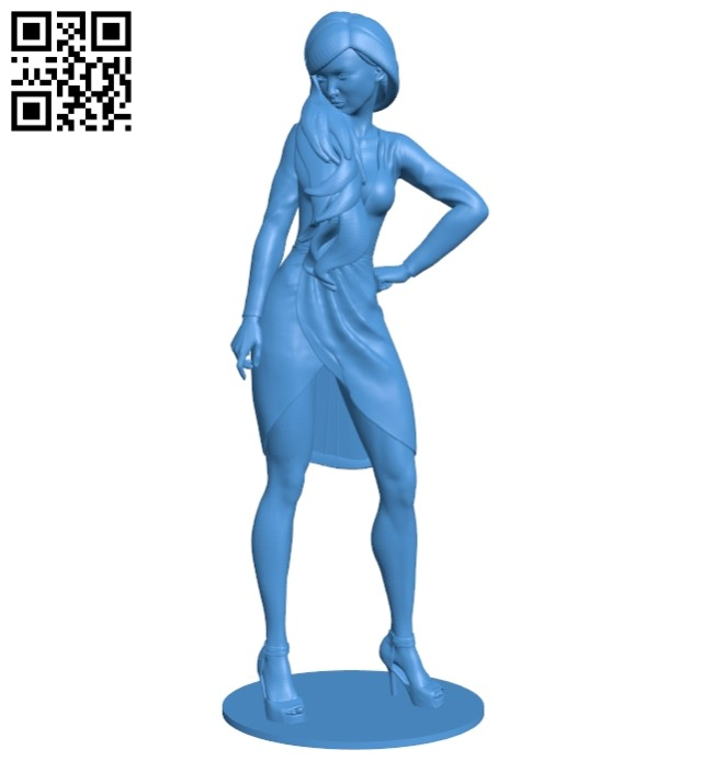 Women long haired lady B007545 file stl free download 3D Model for CNC and 3d printer