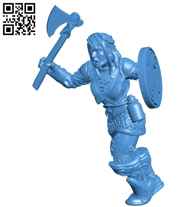 Women northern warrior B007546 file stl free download 3D Model for CNC and 3d printer