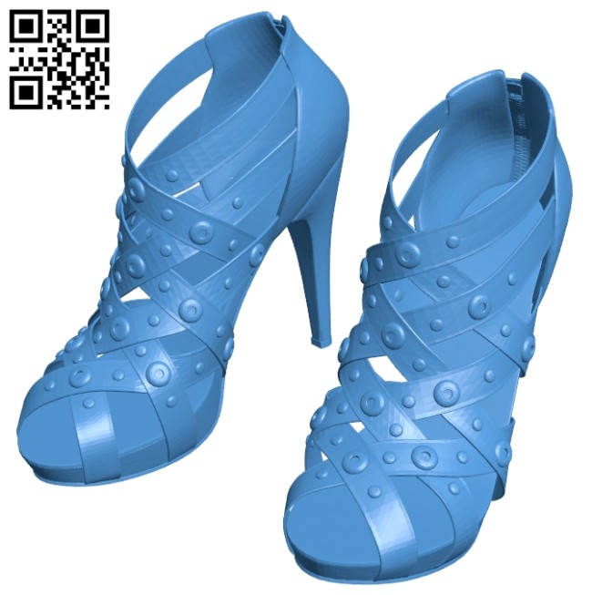 Womens shoes B007465 file stl free download 3D Model for CNC and 3d printer