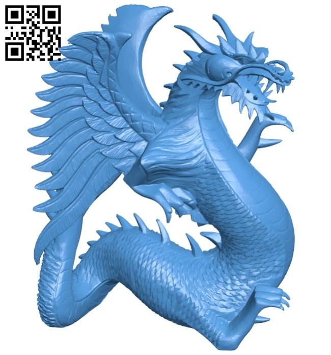 Wooden Dragon Sculpture B007380 file stl free download 3D Model for CNC and 3d printer