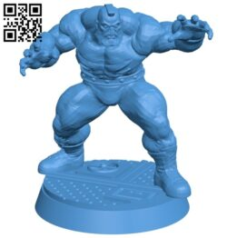 Mr Zangief B007371 file stl free download 3D Model for CNC and 3d printer