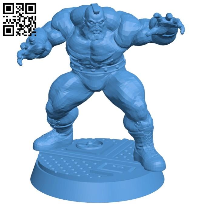 Zangief B007371 file stl free download 3D Model for CNC and 3d printer