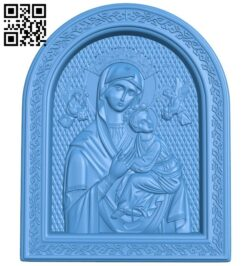 icon of the Mother of God A004831 download free stl files 3d model for CNC wood carving