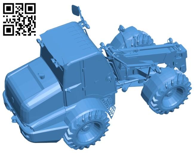 jcb telehandler tractor - truck B007516 file stl free download 3D Model for CNC and 3d printer