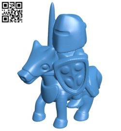 Knight Riding B007126 file stl free download 3D Model for CNC and 3d printer