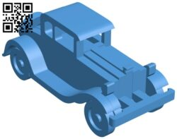 Car 1930 Ford model a simplified B007840 file stl free download 3D Model for CNC and 3d printer