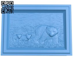 A picture of a mother bear and a cub A005043 download free stl files 3d model for CNC wood carving