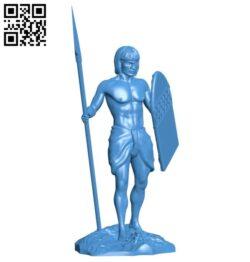 Aboriginal warrior man B007843 file stl free download 3D Model for CNC and 3d printer