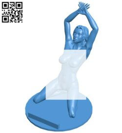 Adult holder – women  B007871 file stl free download 3D Model for CNC and 3d printer