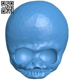 Alien skull B007978 file stl free download 3D Model for CNC and 3d printer