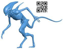 Alien statuette B007896 file stl free download 3D Model for CNC and 3d printer
