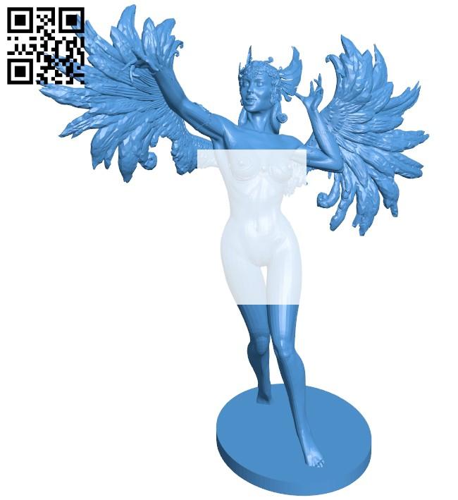 Angel B007918 file stl free download 3D Model for CNC and 3d printer