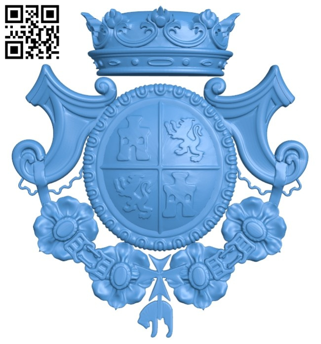 Armorial A005175 download free stl files 3d model for CNC wood carving