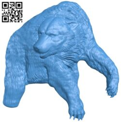 Bear A005097 download free stl files 3d model for CNC wood carving