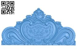 Bed frame pattern A004991 download free stl files 3d model for CNC wood carving